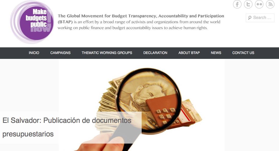 Movimiento Global por la Transparencia Presupuestaria, Rendición de cuentas y Participación exige al G20 ser campeón de la transparencia presupuestaria