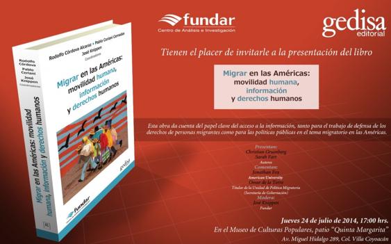 Presentación del libro: Migrar en las Américas: movilidad humana, información y derechos humanos