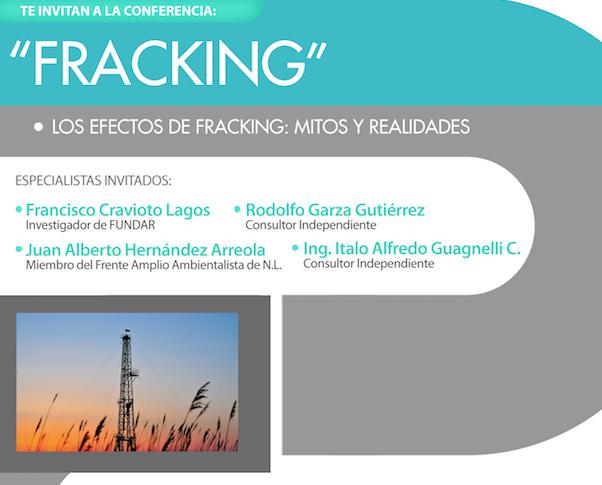 """Conferencia: """"Fracking, los efectos de fracking: mitos y realidades"""
