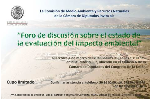 """""""Foro de discusión sobre el estado de la evaluación del impacto ambiental"""""""