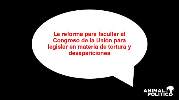 Tortura y desapariciones: los pendientes legislativos